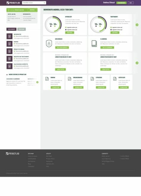 Privacylab Sito web Desktop
