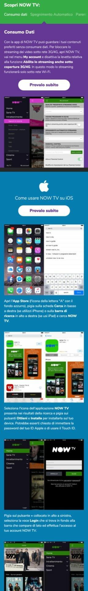 Now TV Sito Web Mobile