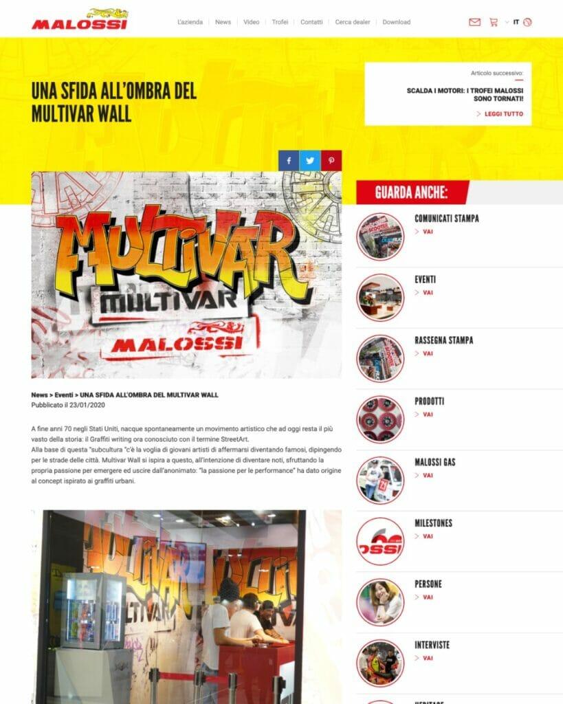 Malossi Sito Web Desktop