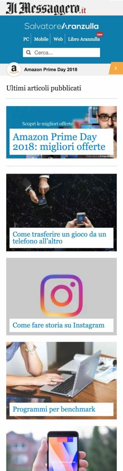 Salvatore Aranzulla Sito Web Mobile