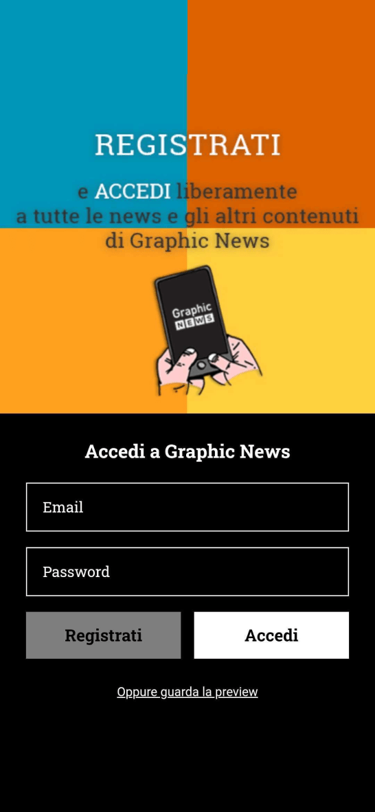 Graphic News App Mobile