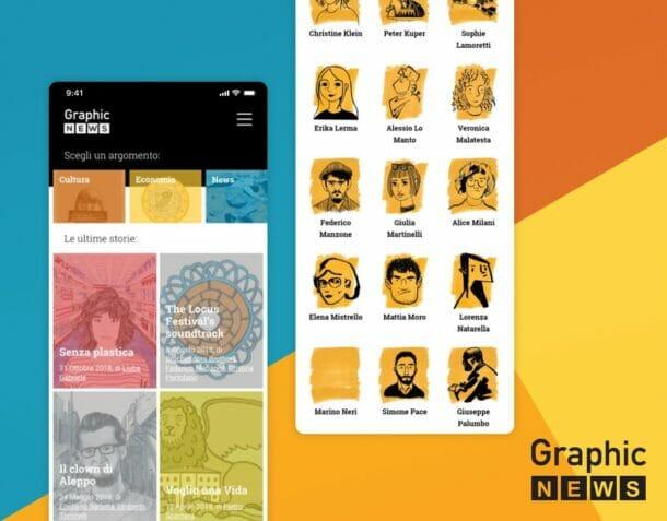 Graphic News App Mobile