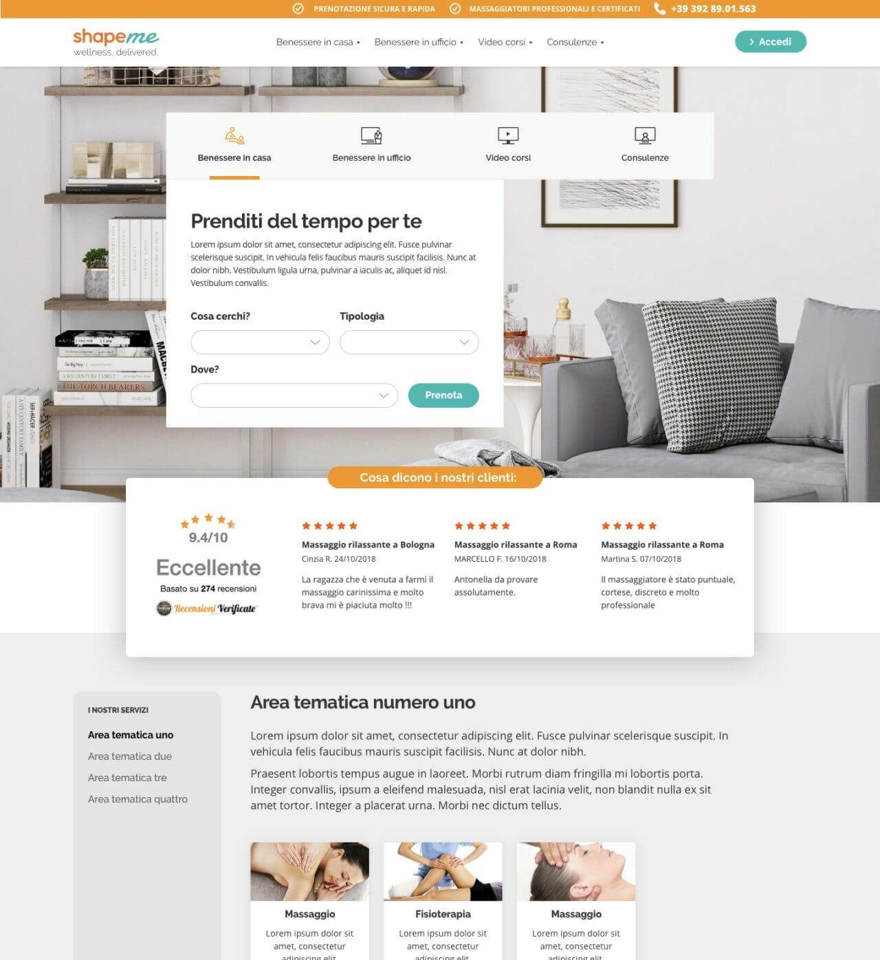 Shapeme Desktop website homepage 1
