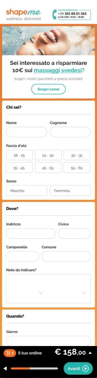 Shapeme mobile ecommerce checkout