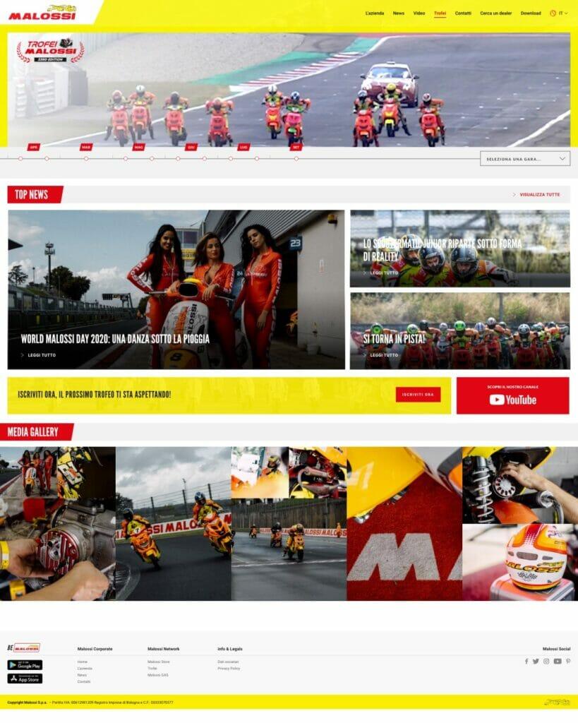 Malossi Sito Web Desktop 2