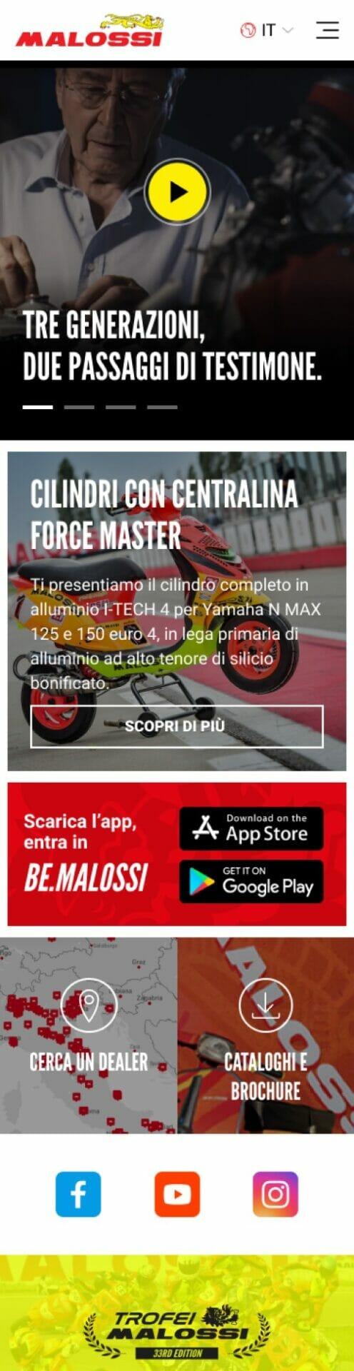 Malossi Sito Web Mobile 2