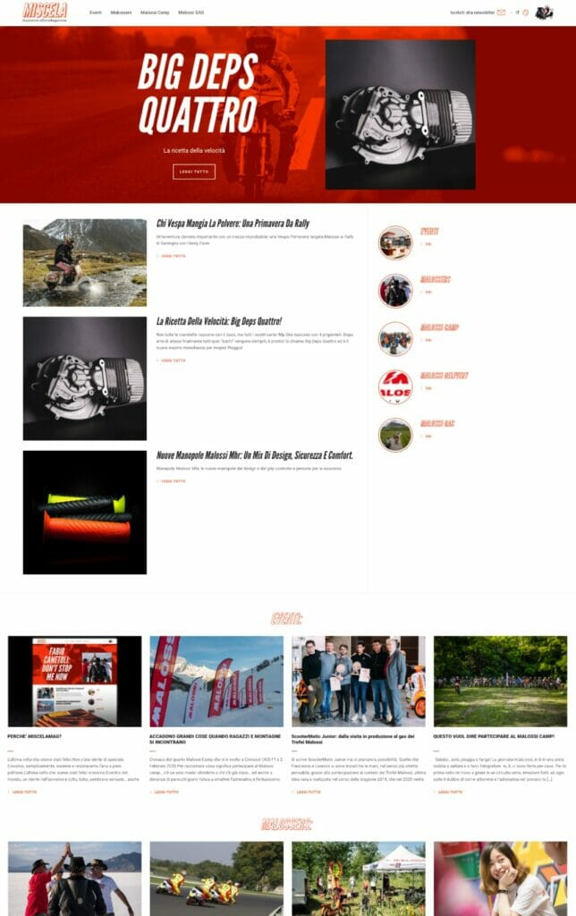 Miscela Magazine Sito Web Desktop 3