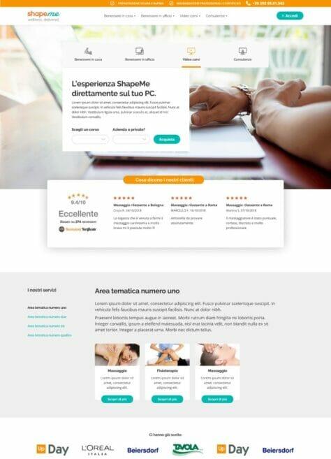 Shapeme website homepage