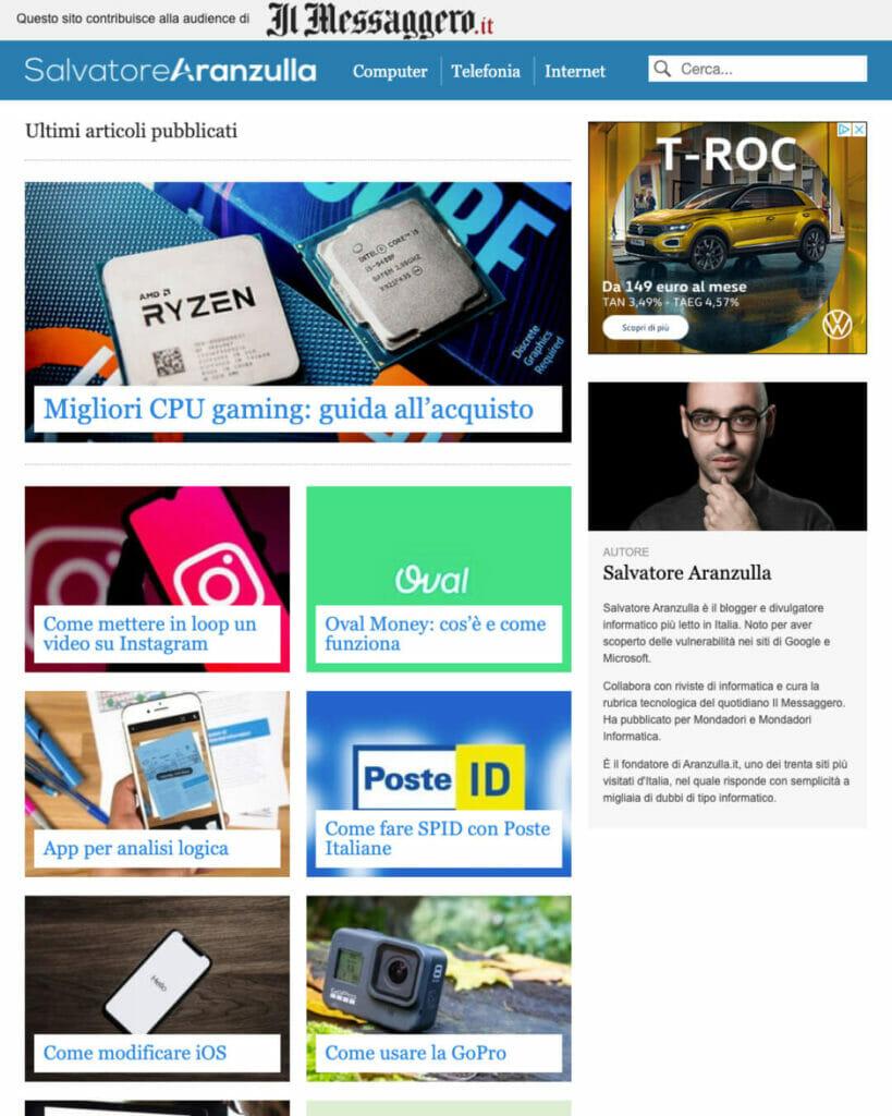 Salvatore Aranzulla Sito Web Desktop 2