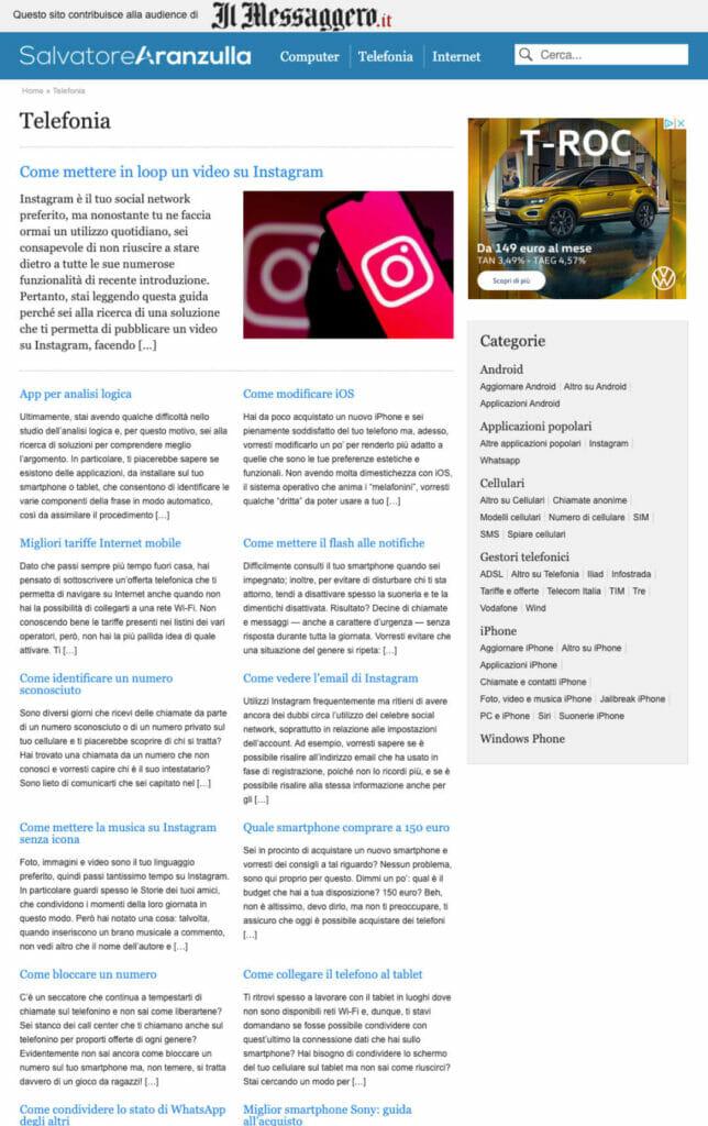 Salvatore Aranzulla Sito Web Desktop 3