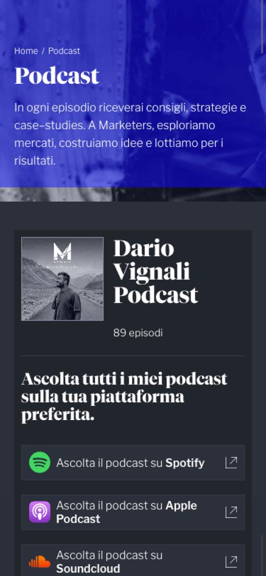 Dario Vignali Sito Web Mobile 4