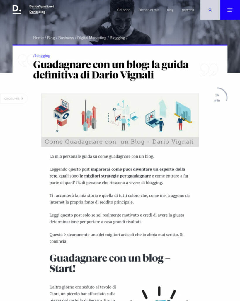 Dario Vignali Sito Web Desktop 4
