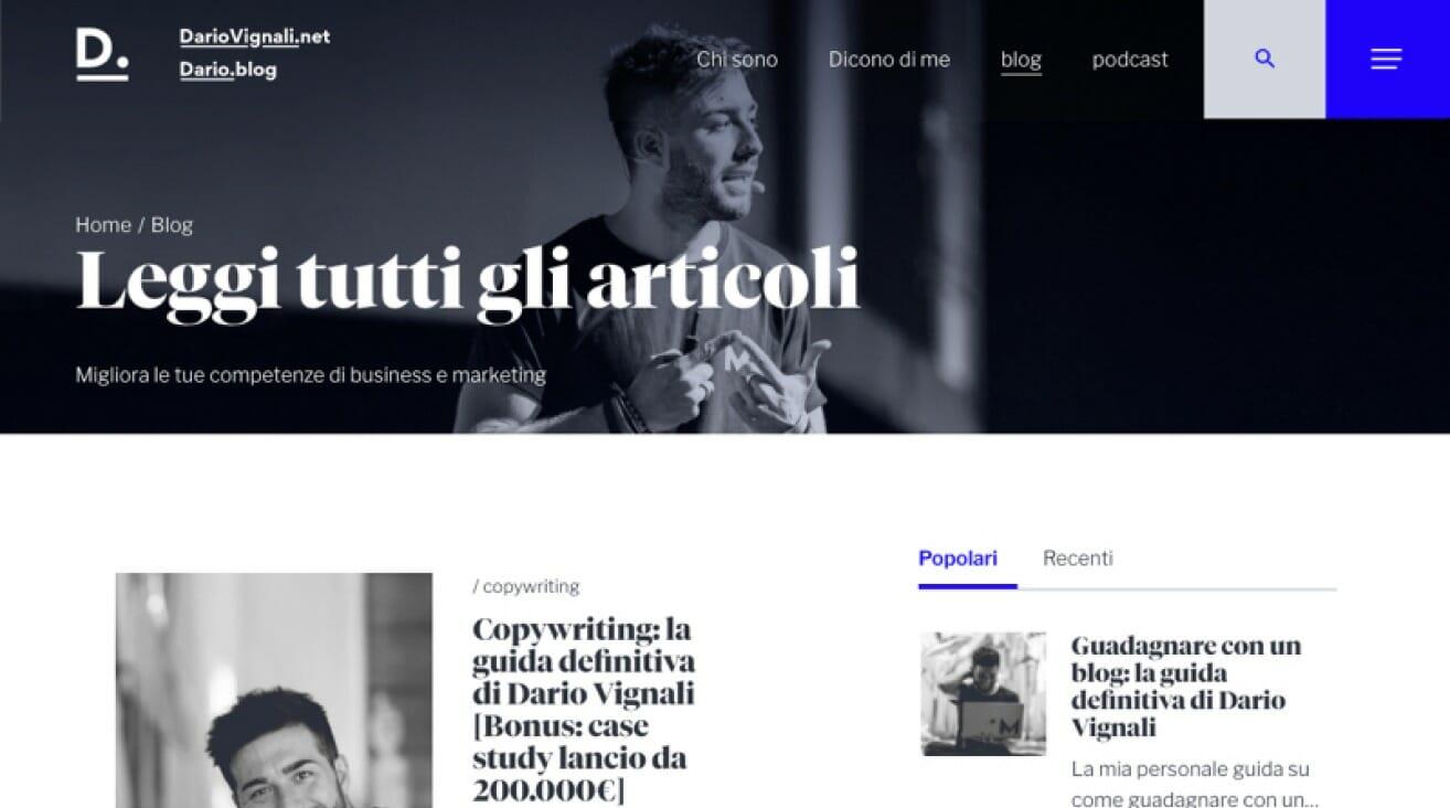 Dario Vignali Sito Web iMac